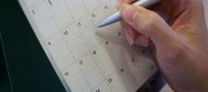 checking calendar