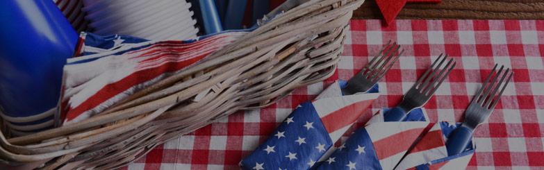 Festive Memorial Day - American Flag Picnic Table Decor