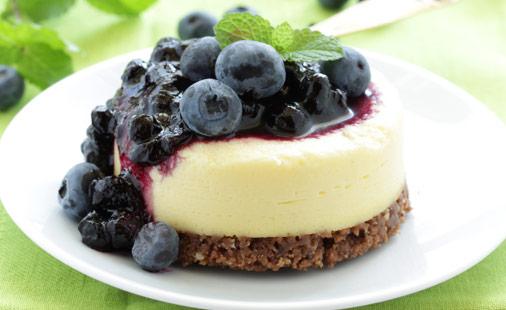 Mini Blueberry Cheesecakes