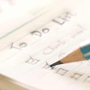 writing to do list