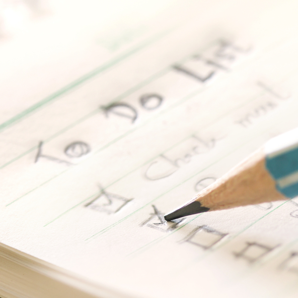 Check it off: Got a list? Make a dent in it.