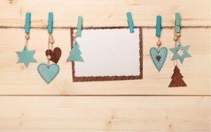 homemade holiday card hangers