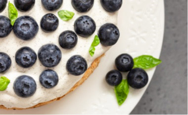 Blueberry Whipped Pie