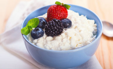 Holiday Plans - Triple Berry Salad with Cottage Cheese