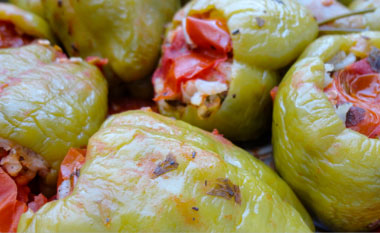 Holiday Plans - Turkey-stuffed Green Peppers